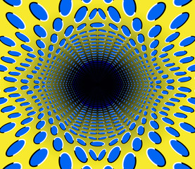 black hole. optical illusion.