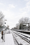 Railway in snow