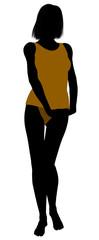 Woman Lingerie Silhouette