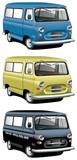 old-fashioned van set