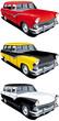 American retro station wagon