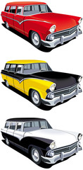 American retro station wagon