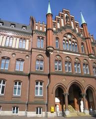 entrée en arcades d'une maison à Lübeck