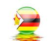 bandeira do Zimbabwe