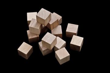 Wooden cubes