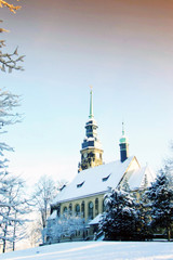 Herzogin-Agnes-Gedächtniskirche in Altenburg im Winter