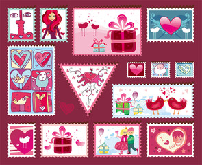 Festive The Valentine's Stamps.