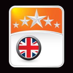 british flag orange star background