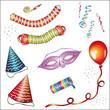 Karneval, Fasching, Hütchen, Luftballon, Luftschlangen