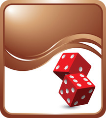 casino dice bronze wave backdrop