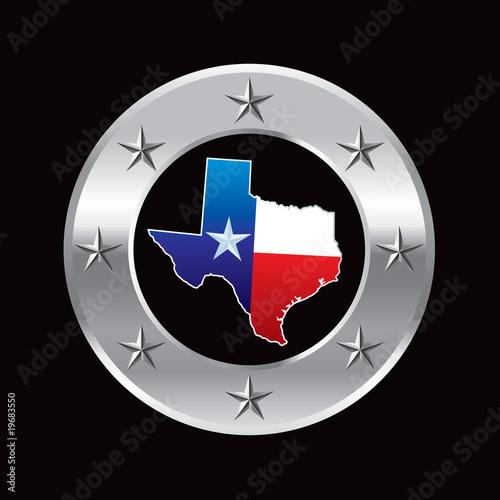 texas lonestar state silver star round frame