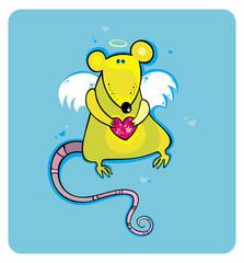 Angel cupid rat card 1