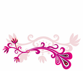 Pink branch for your design