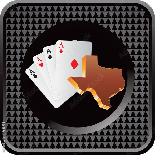 texas hold em black checkered web button