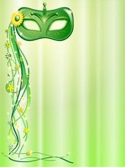 Maschera Verde-Green Mask-Masque Vert-Vector
