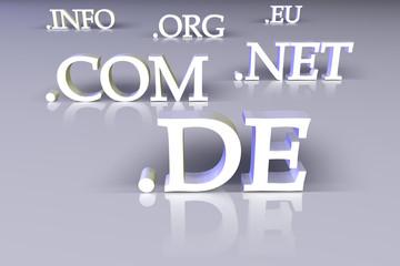Domain .de .com .net .org .info .eu