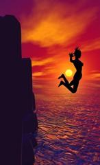 saut de falaise