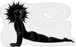 Illustration of yoga man posing