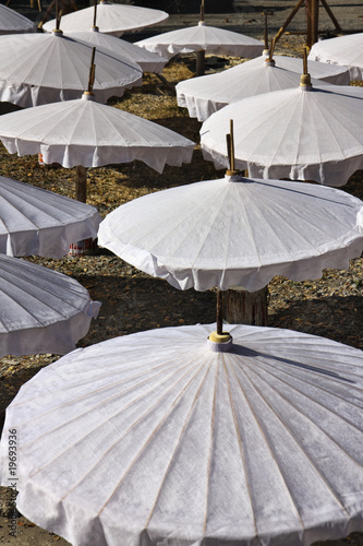 Thailand, Chiang Mai, unfinished Thai umbrellas