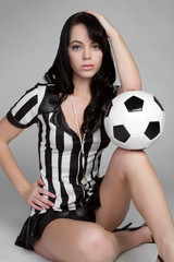 Referee With Soccer Ball