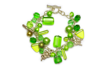 A necklace of glass bracelet, industrial arts