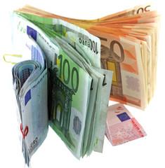 billets euro fond blanc