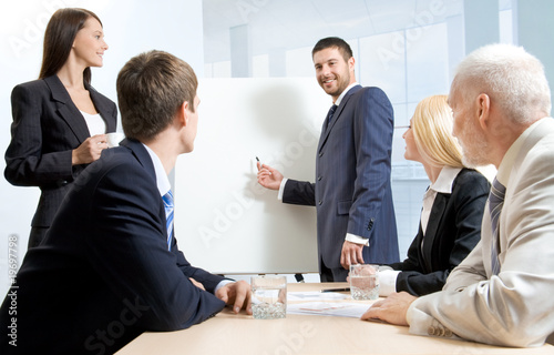 White collar workers at a meeting