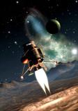 spaceship landing-
