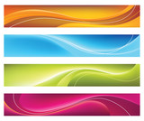 Fototapety Four colorful banners