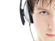 man in headphones