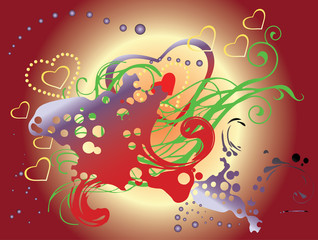 Abstract background to Valentine's Day