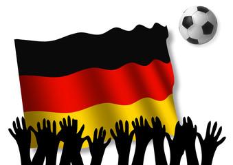 Fußball WM 2010 - Deutschland Flagge