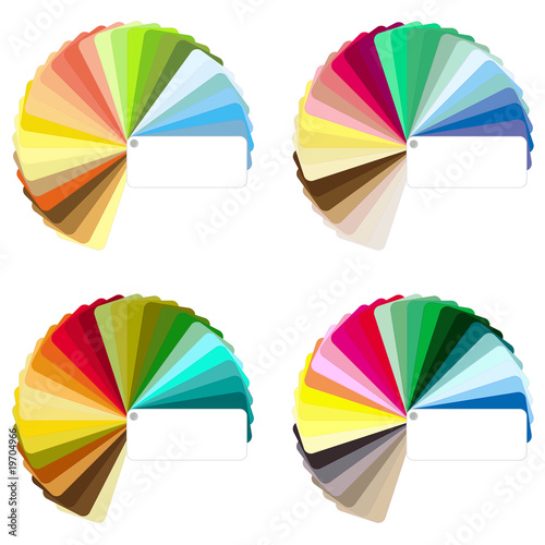 Colour charts vectors - Four seasons