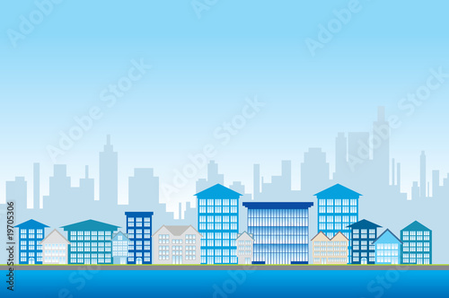 Office blocks illustration