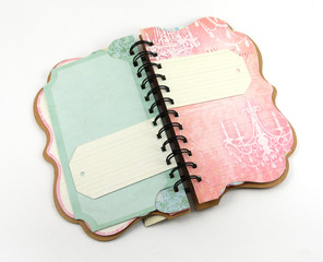 Spiral notebook with space for your text