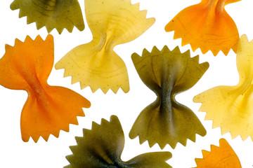 Multi-coloured sapgetti-butterflies