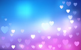 Heart Shape Defocus Blurry Lights poster