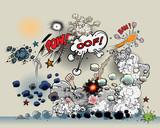 Comic book - explosion