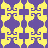 Psychedelic pattern that tiles seamlessly. poster