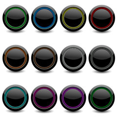 Set of glance buttons for web design
