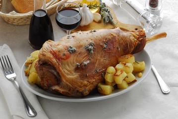 Agnello al testo - Secondi di carne - Ricette della Toscana