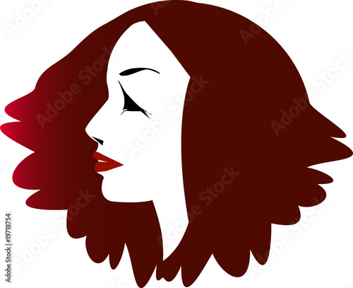Voluminosity hair woman profile