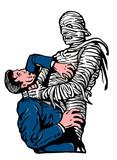 mummy strangling choking a man poster