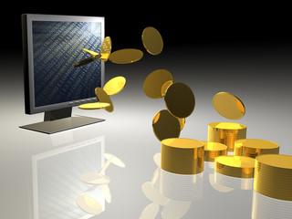 Illustration zum Thema Geld - Background - 3D