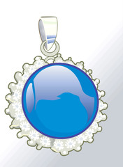 Illustration of a blue medal,