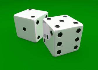 White dice