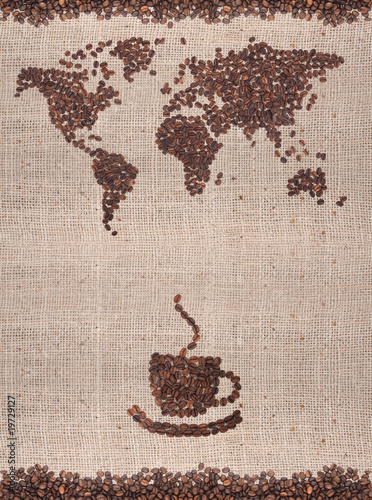 Foto op Canvas Cafe Coffee map