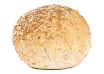 Multi-grain Dinner Roll Isolated on White