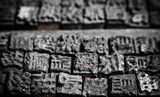 Close up shot of Chinese typescript letters poster