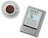 ebook reader coffee breakfast poster